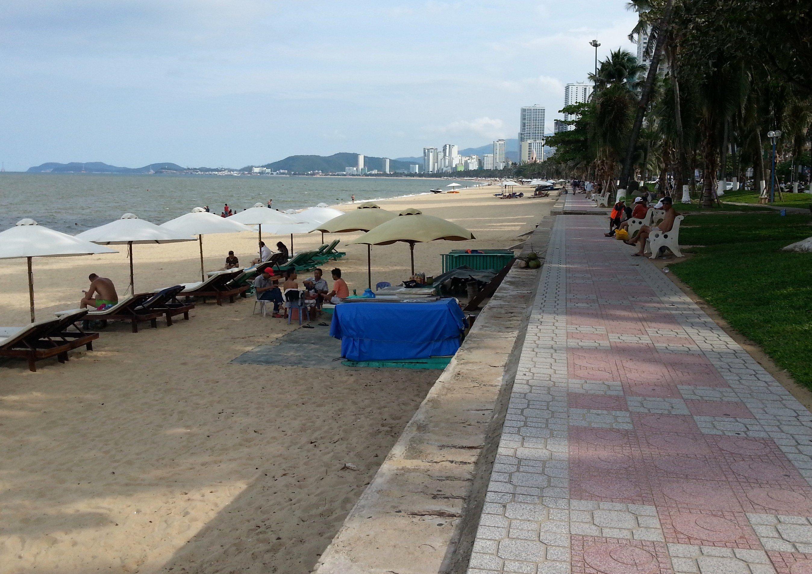 Beach front in Nha Trang