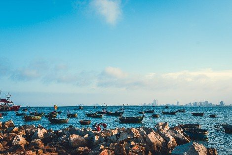 Fishing boats in Da Nang