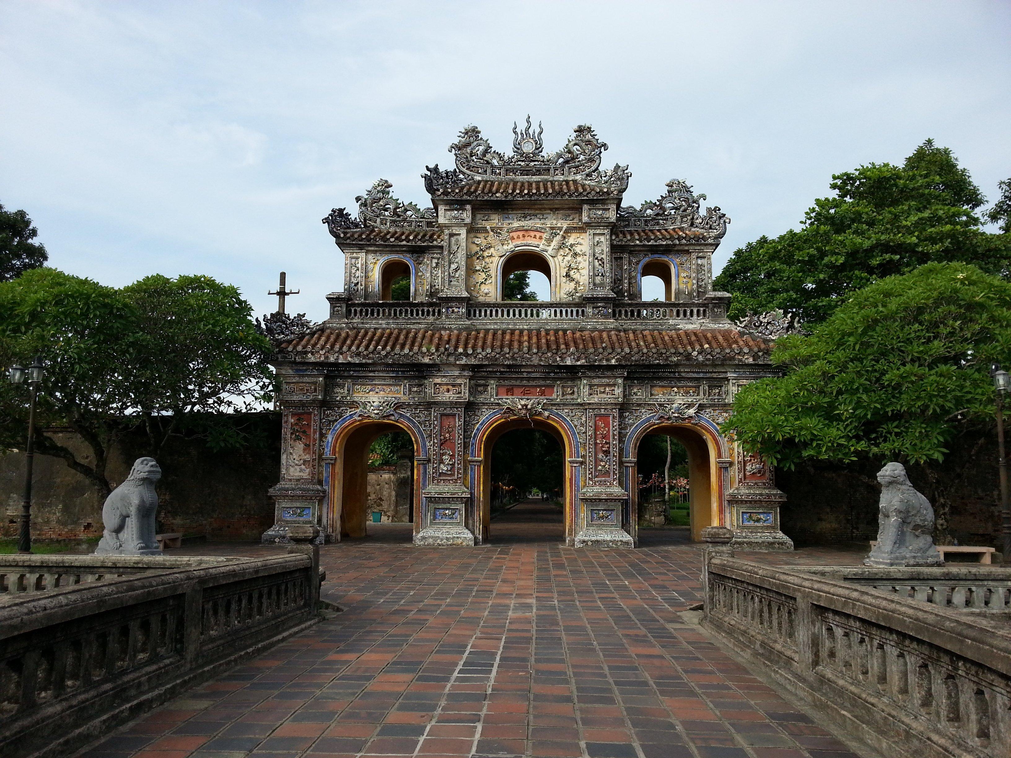 Hien Nhon Gate in Hue's Imperial Citadel