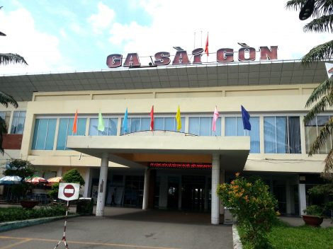 Front entrance to Saigon Railway Station
