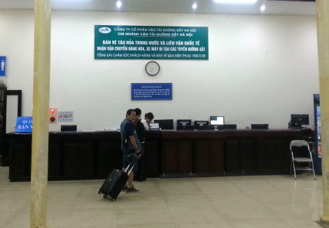 Ticket counter at Hanoi Railway Station