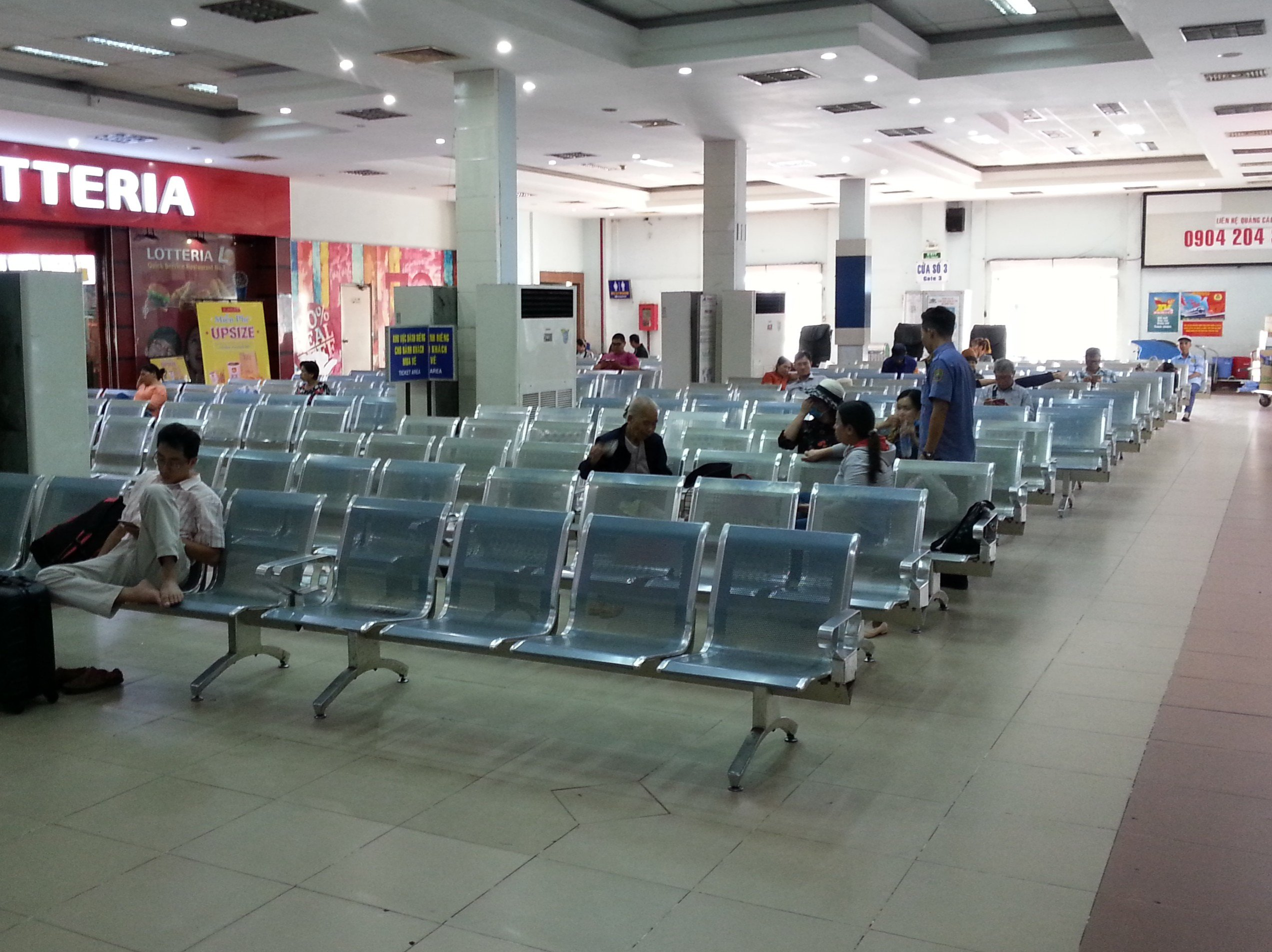 Waiting area at Saigon Railway Station