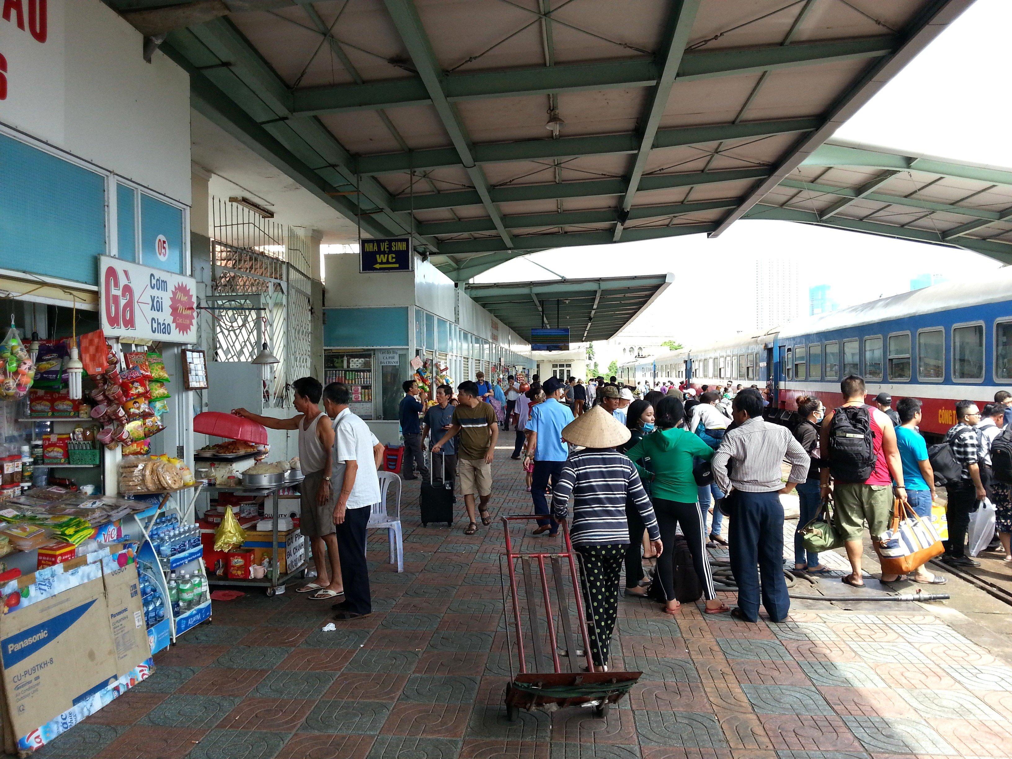 Platform at Nha Trang Railway Station