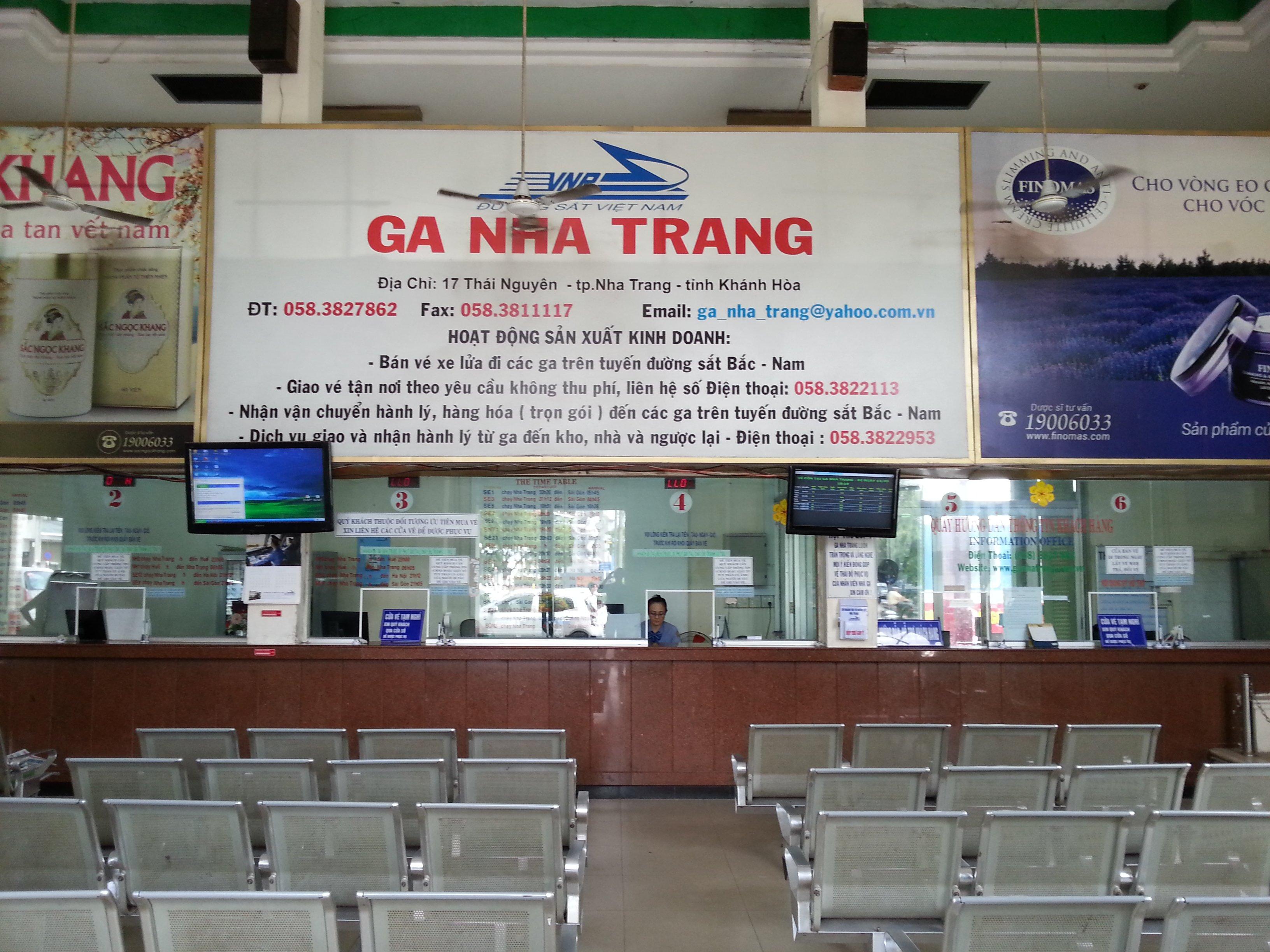 Ticket counters at Nha Trang Train Station