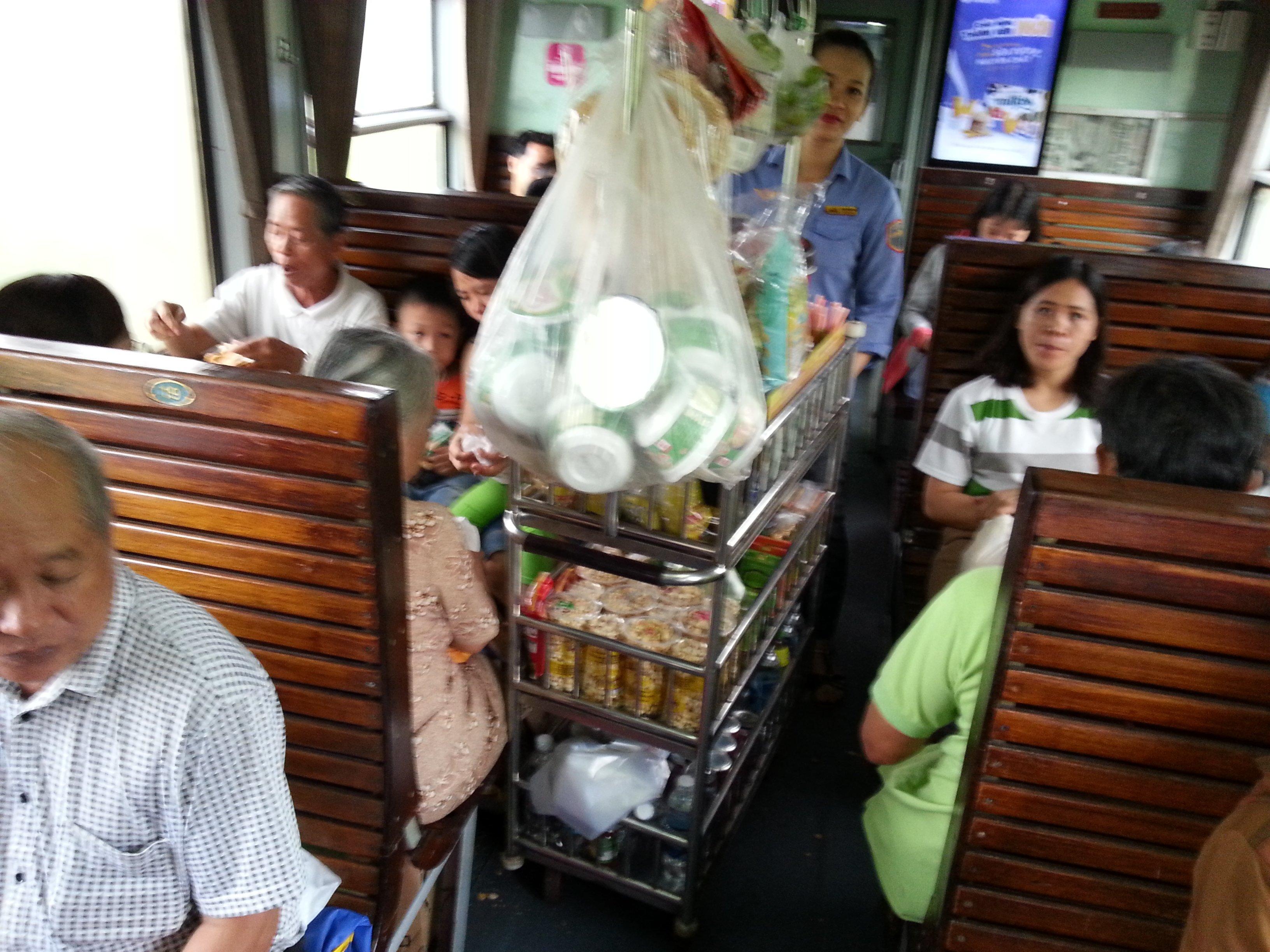 Food cart on a Vietnam train