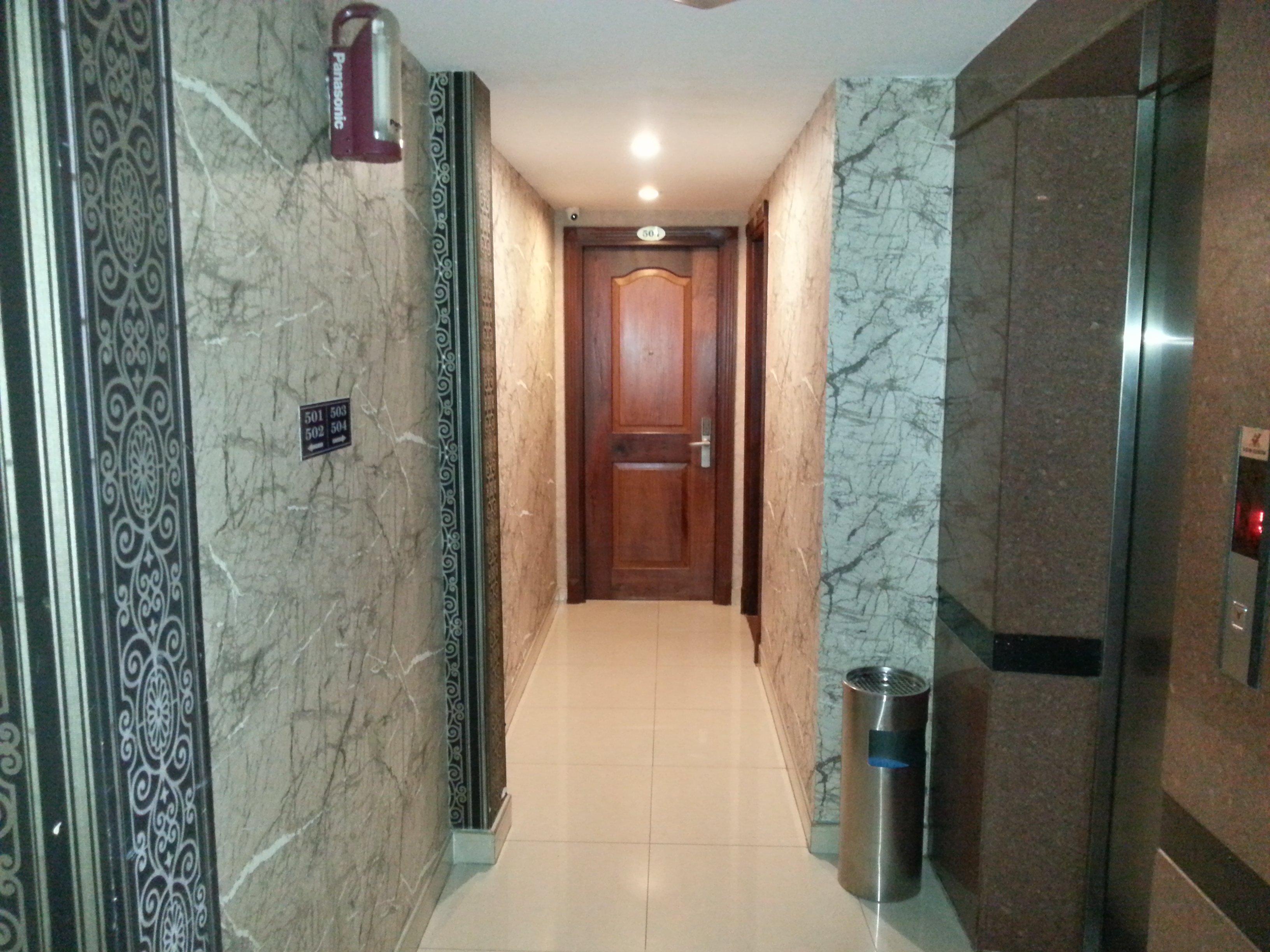 Inside the Huong Mai Hotel