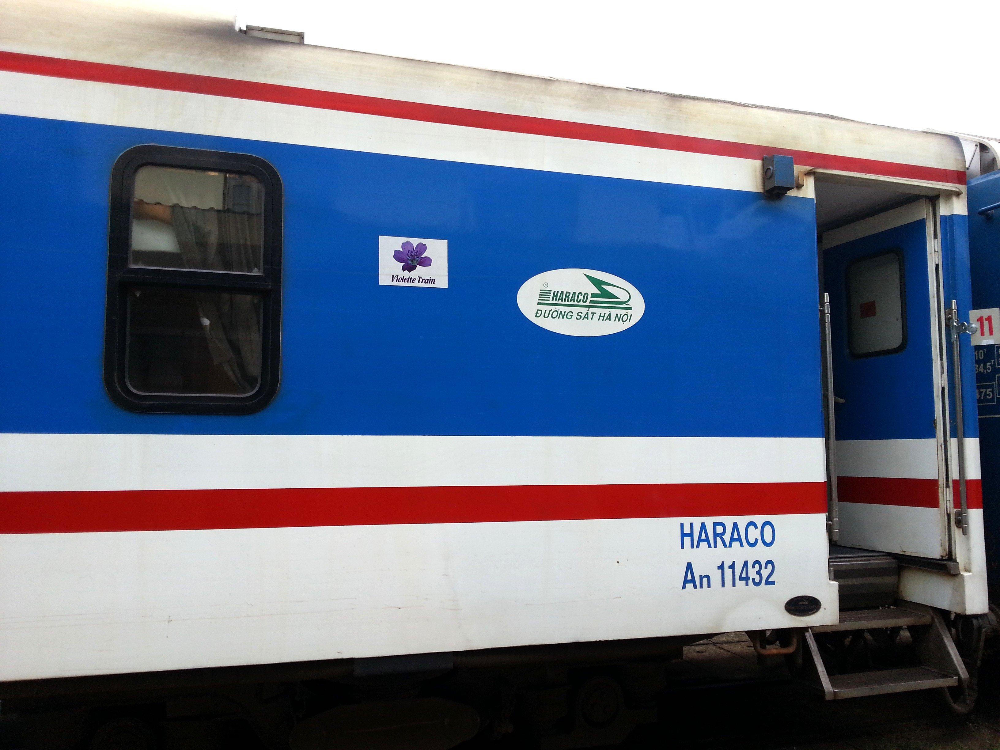 Door on a Vietnam train