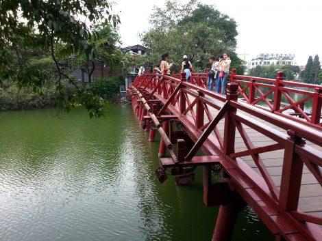 The Huc Bridge in Hanoi