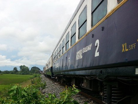 Passenger train in Cambodia