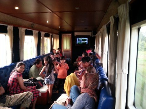 Train carriage in Cambodia