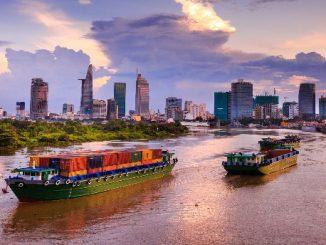 Saigon River in Ho Chi Minh City