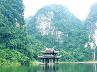 Floating pagoda in Ninh Binh Province