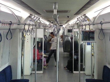 Inside a Malaysian Kommuter Train