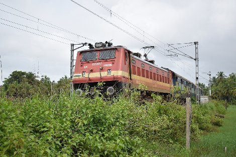 Electrified railway line in India