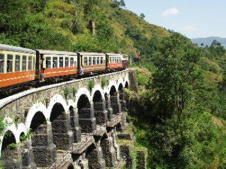 The scenic Kalka to Shimla Railway Line